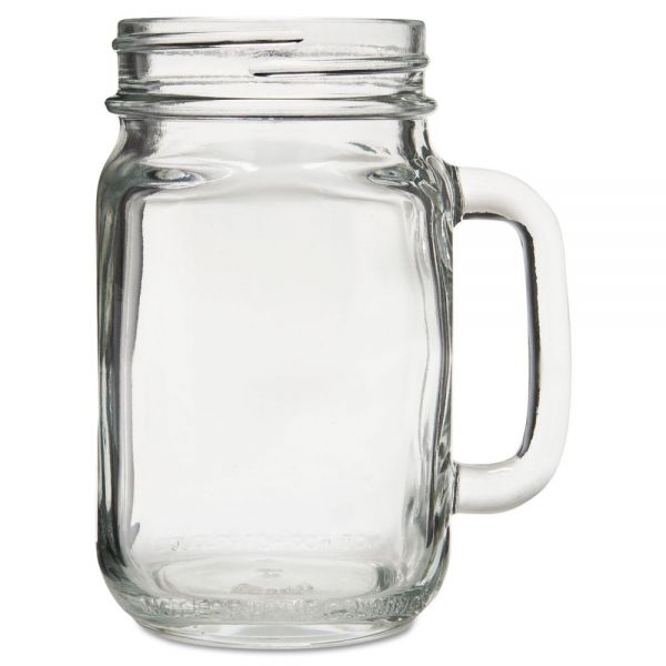 "Libbey Glass Mugs and Tankards, Drink Jar, 16.5oz, 5 1/4"" Tall, 12/Carton"