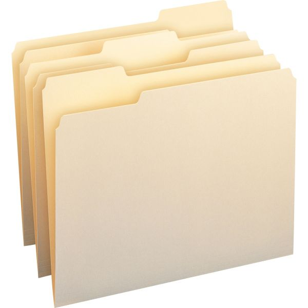 Smead Manila File Folders with Antimicrobial Product Protection