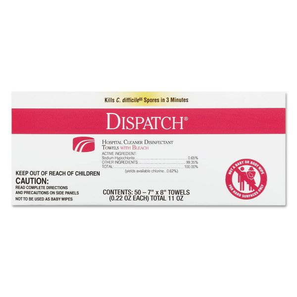 Dispatch Hospital Cleaner Disinfectant Towels
