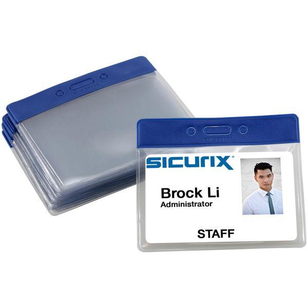 SICURIX Color-coded Vinyl Badge Holders - Horizontal