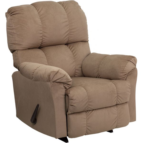 Flash Furniture Contemporary Top Hat Coffee Microfiber Rocker Recliner