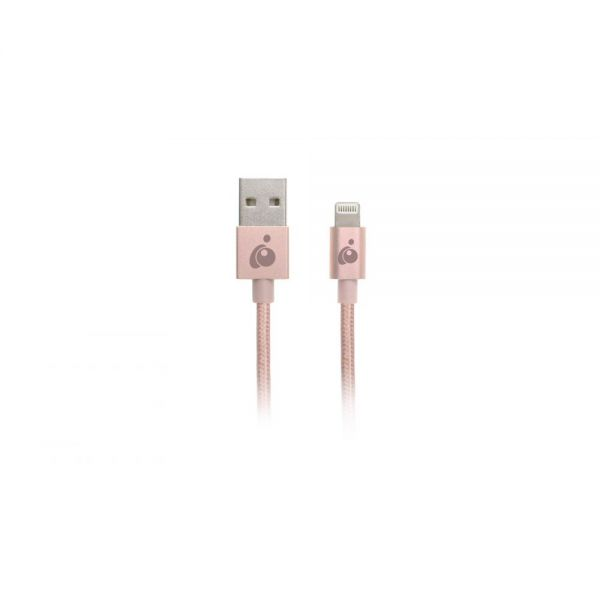 Iogear Charge & Sync Flip Pro-Reversible USB to Lightning Cable, 3.3ft (1m)-Rose Gold