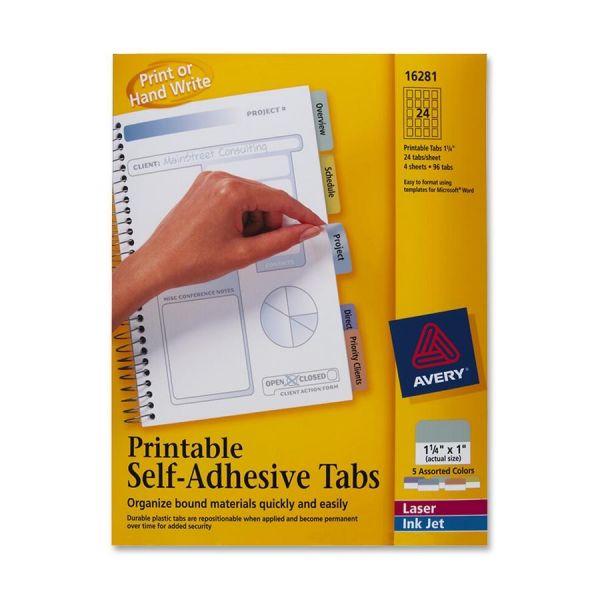 Avery Printable Self-Adhesive Tabs