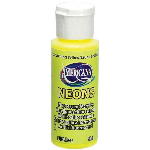 Deco Art Americana Neons Fluorescent Scorching Yellow Acrylic Paint