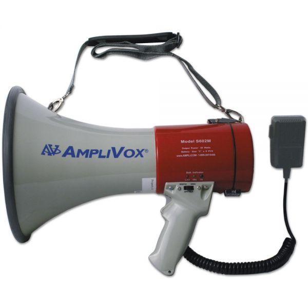 AmpliVox MityMeg Piezo Dynamic Megaphone, 25W w/ Coiled Microphone