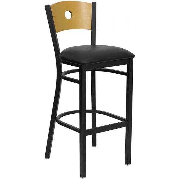 Flash Furniture HERCULES Series Black Circle Back Barstool