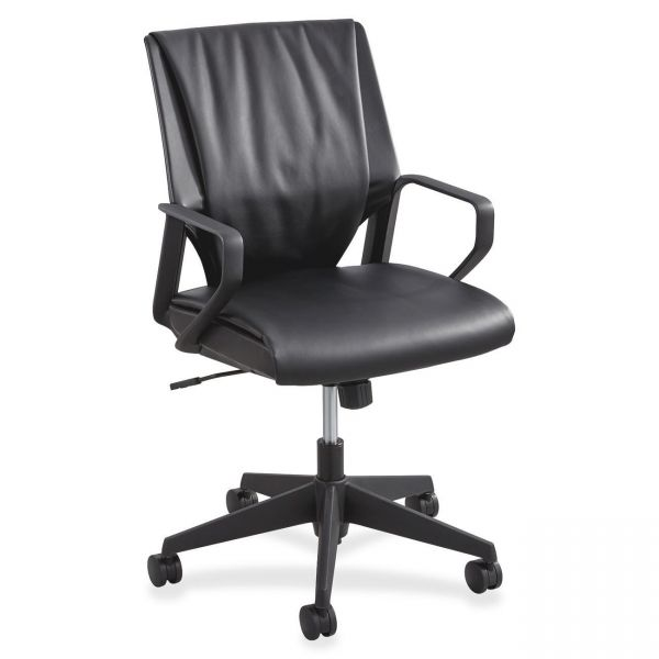 Safco Priya Leather Executive Mid-Back Office Chair