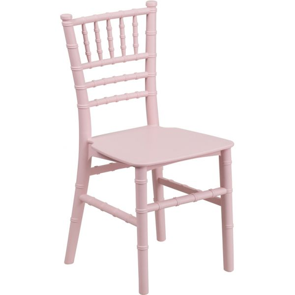 Flash Furniture Kids Pink Resin Chiavari Chair