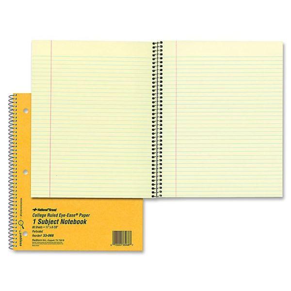 Rediform 1-Subject Spiral Notebook