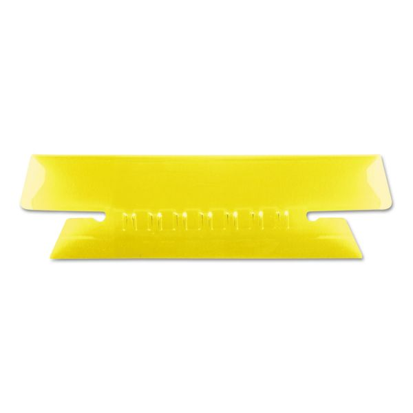 Pendaflex Hanging File Folder Tabs, 1/3 Tab, 3 1/2 Inch, Yellow Tab/White Insert, 25/Pack