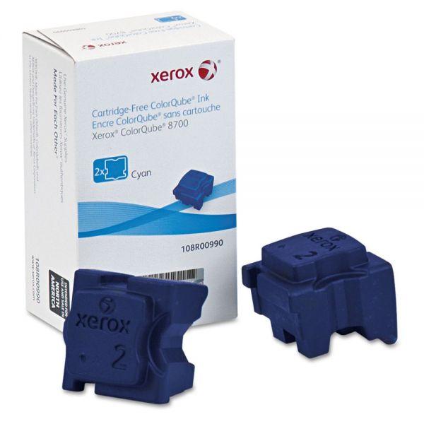 Xerox 108R00990 Ink Sticks, 4200 Page-Yield, Cyan, 2/Box