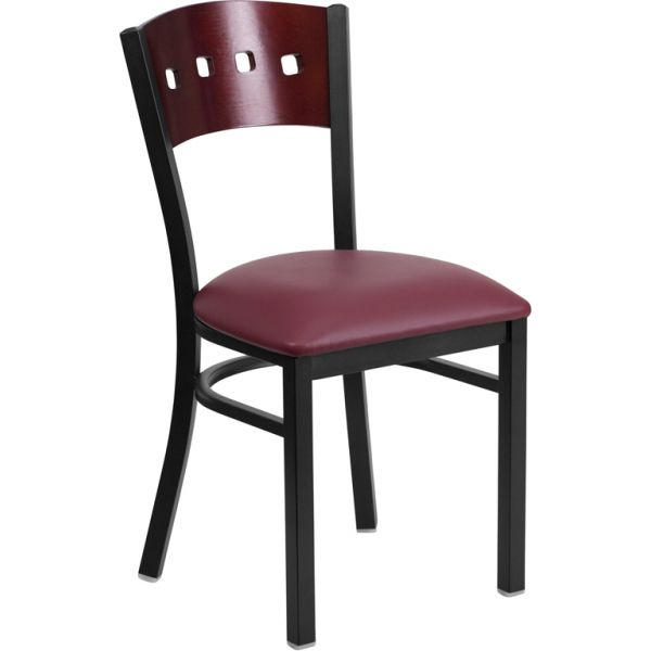 Flash Furniture HERCULES Series Decorative 4 Square Back Restaurant Chair