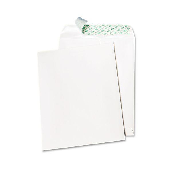 Quality Park Tech No Tear Catalog Envelope, Poly Lining, 10 x 13, White, 100/Box