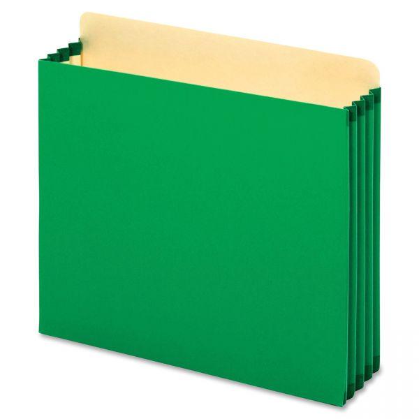 Pendaflex Heavy-Duty Green Colored Expanding File Pockets
