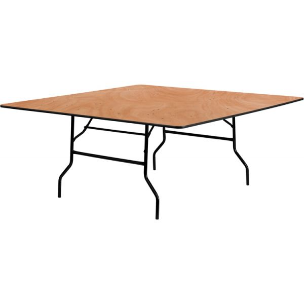 Flash Furniture 72'' Square Wood Folding Banquet Table