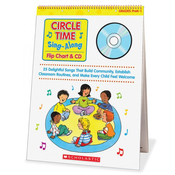 Scholastic Circle Time Sing Along Flip Chart with CD