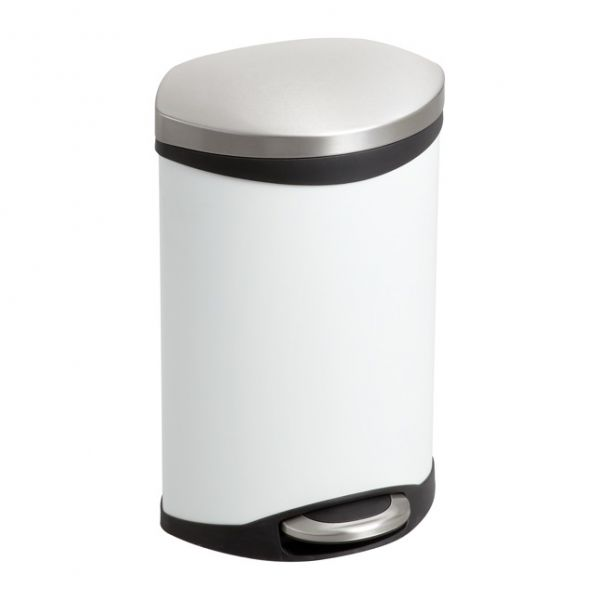Safco Hands Free Step-On 3 Gallon Trash Can
