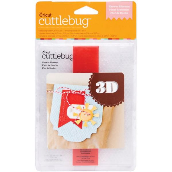 Cuttlebug 3D A2 Embossing Folder/Border Set