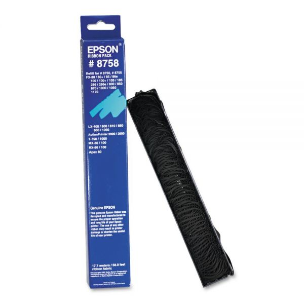 Epson 8758 Ribbon, Black