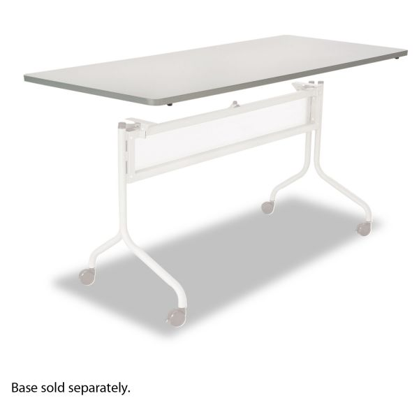 Safco Impromptu Series Mobile Training Table Top, Rectangular, 72w x 24d, Gray