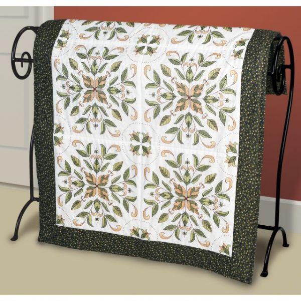Antique Foliage Stamped Cross Stitch Quilt Blocks Kit