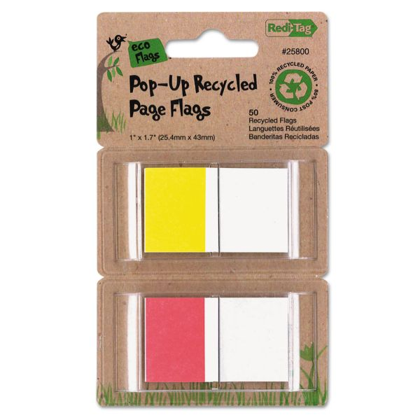 """Redi-Tag Recycled Pop-Up 1"""" Flags"""