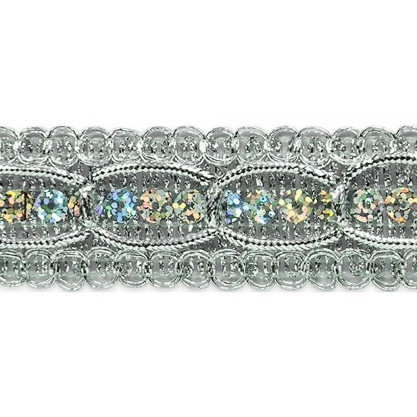 "Apollo Sequin And Braid Trim 1-1/4""X9'"