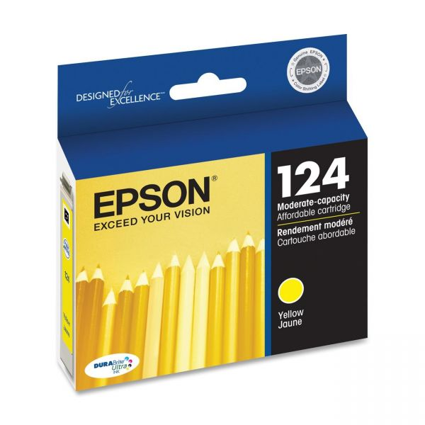 Epson 124 Yellow Ink Cartridge (T124420)
