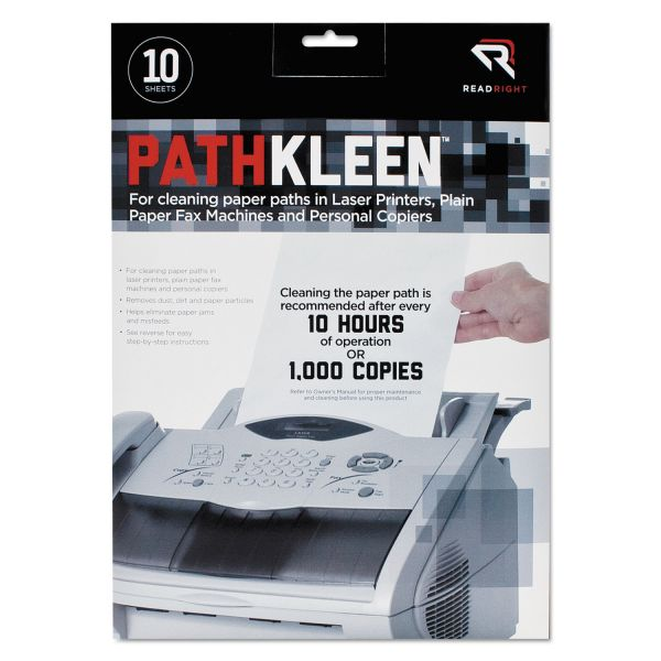 Read Right PathKleen Sheets, 8 1/2 x 11, 10/Pack