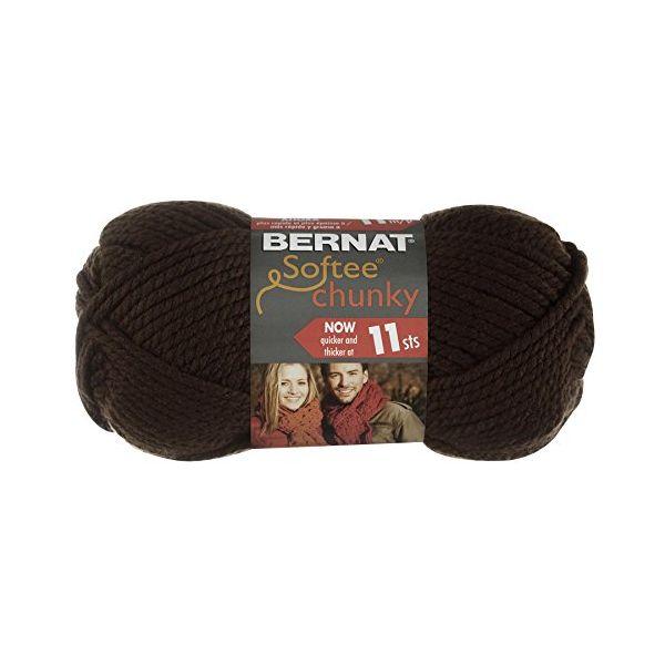 Bernat Softee Chunky Yarn - Dark Taupe