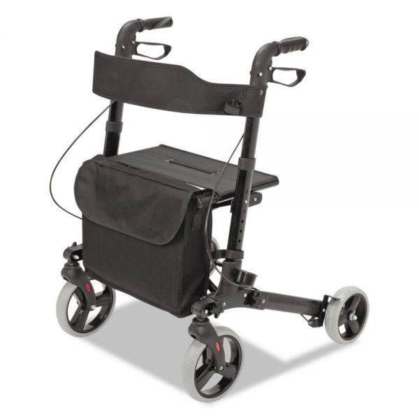 "HealthSmart Gateway Aluminum Rollator, Black, 31""-36""H, 300 lb Capacity"