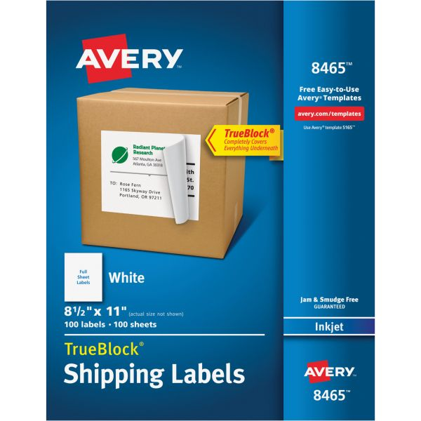 Avery 8465 Shipping Labels