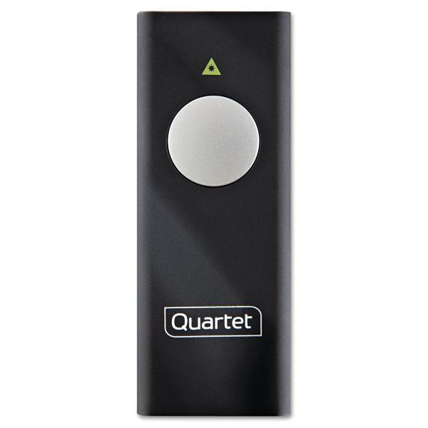 Quartet Slimline Laser Pointer, Class 2, Projects 655 ft, Black