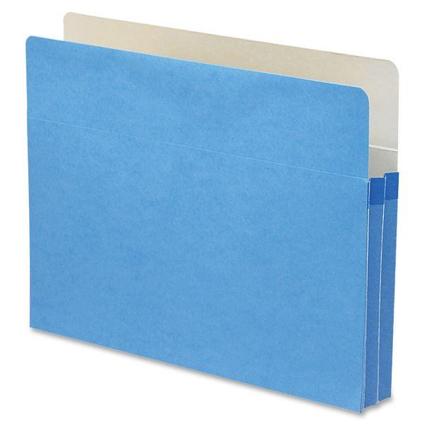 Smead TUFF Pocket Blue Colored Expanding File Pocket