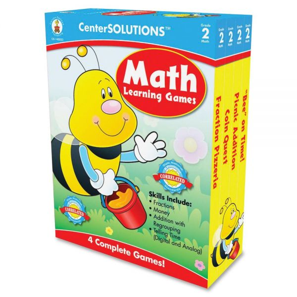 Carson-Dellosa Publishing Math Learning Games, Four Game Boards, 2-4 Players, Grade 2