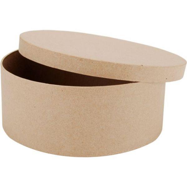 Paper-Mache Round Box