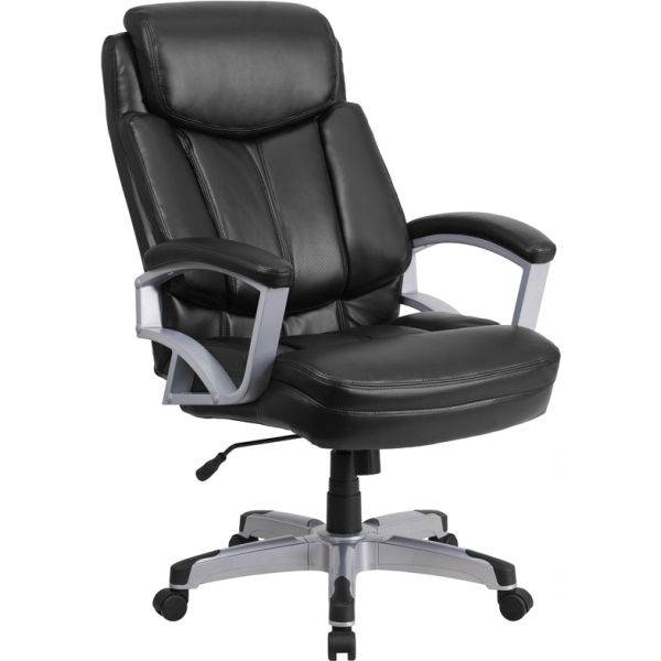 Flash Furniture Big & Tall Leather Executive Swivel Office Chair