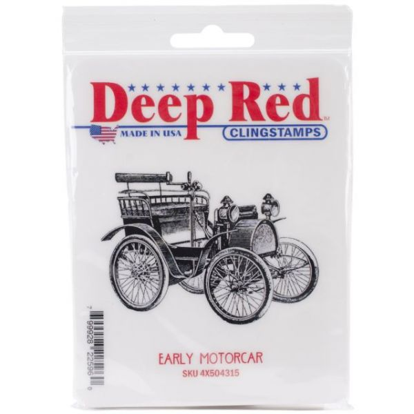 "Deep Red Cling Stamp 3""X2"""
