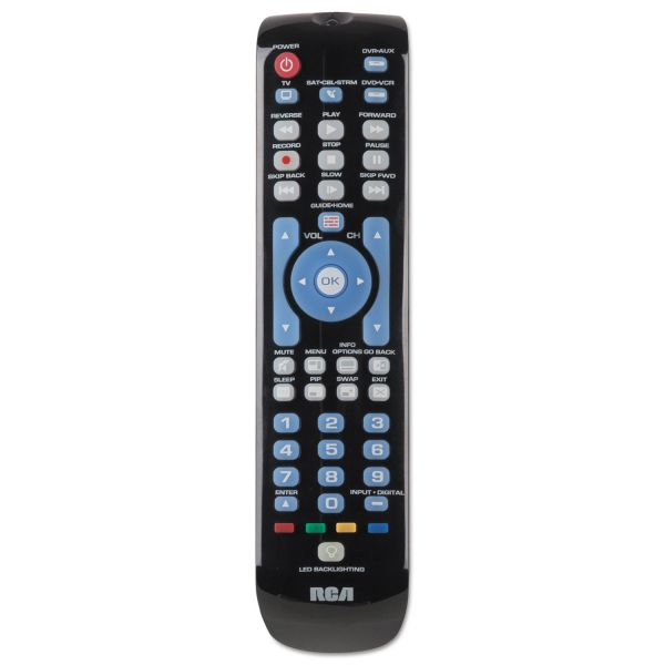 RCA Four-Device Universal Remote, Black