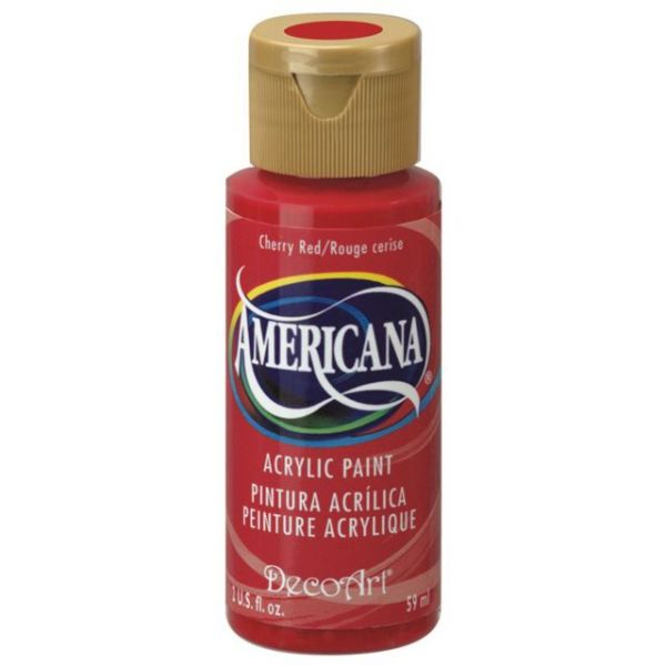 Deco Art Americana Cherry Red Acrylic Paint