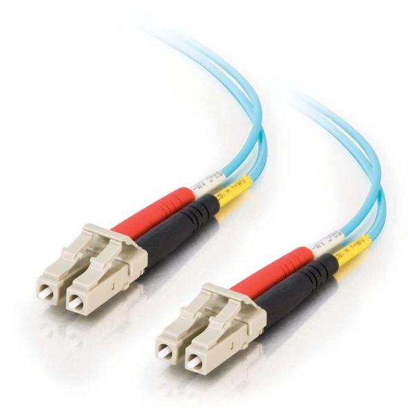 C2G 4m LC-LC 10Gb 50/125 Duplex Multimode OM3 Fiber Cable - Aqua - 13ft
