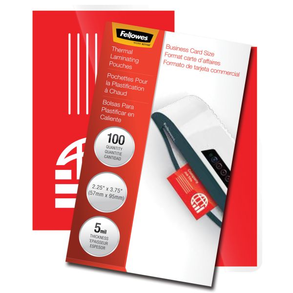 Fellowes Business Card Laminating Pouches