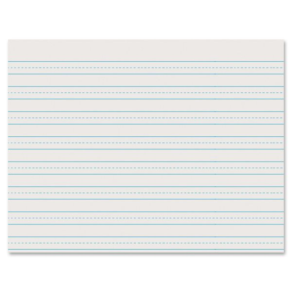 Pacon Ruled Newsprint Practice Paper w/Skip Space, 3rd Grade, White, 500 Sheets/Ream