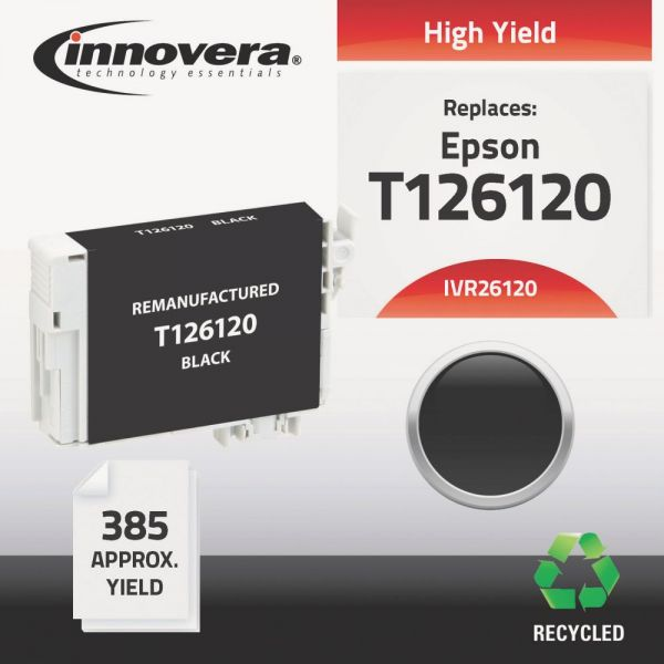 Innovera Remanufactured Epson T126120 (T-126) Ink Cartridge