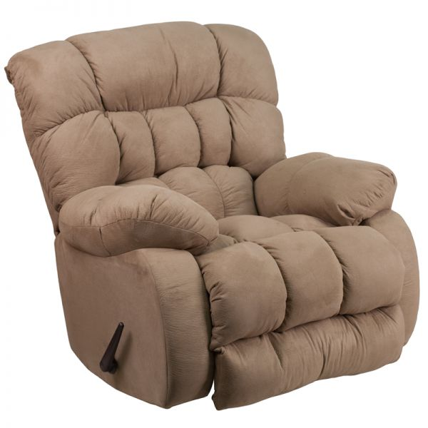 Flash Furniture Contemporary Softsuede Taupe Microfiber Rocker Recliner