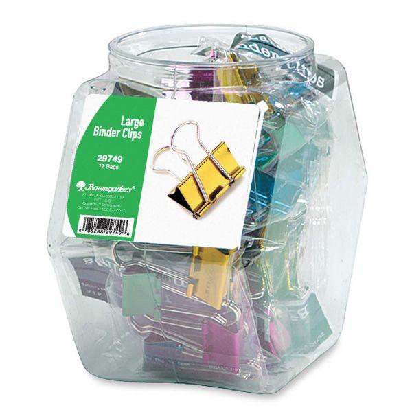 Baumgartens Colored Binder Clip Tub