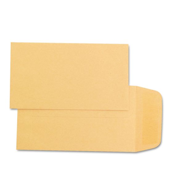 Quality Park Kraft Coin & Small Parts Envelope, #1, 2 1/4 x 3 1/2, Brown Kraft, 500/Box