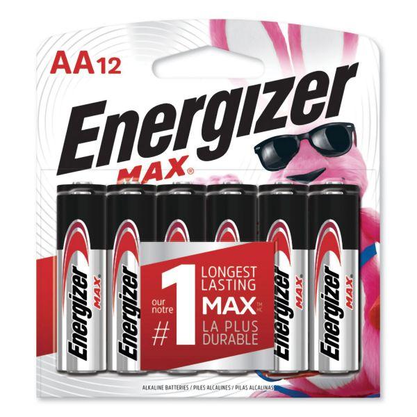 Energizer MAX Alkaline AA Batteries 1 5V 12 Pack