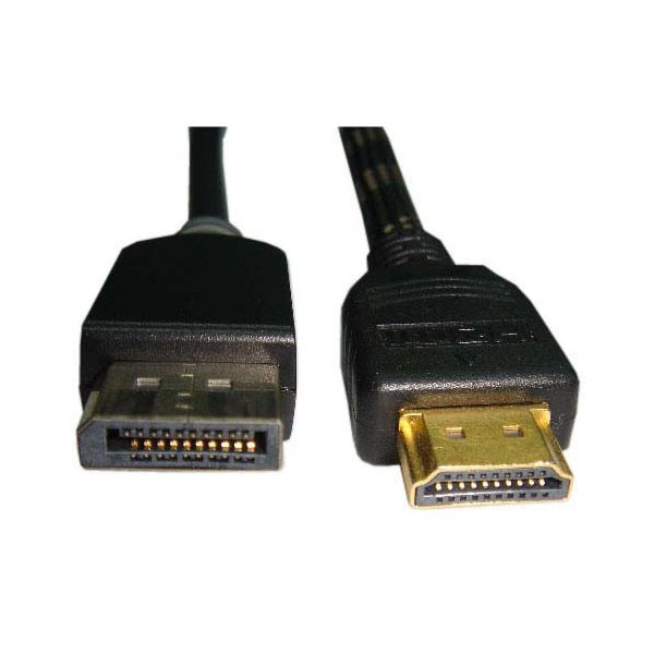 Unirise 6ft Displayport Male to HDMI Male Cable