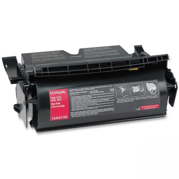 Lexmark 12A6735 High-Yield Toner, 20000 Page-Yield, Black